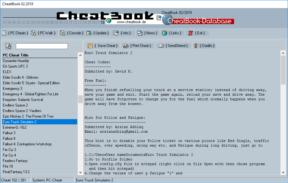 CheatBook (02/2018) - Issue February 2018 is A Cheat-Code Tracker with Cheats, Tips, Tricks and Hints for several popular Games