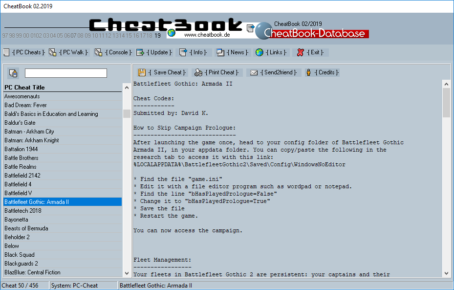 CheatBook Issue 02/2019 full screenshot