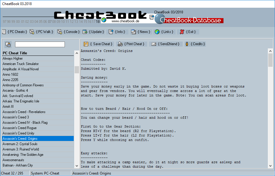 CheatBook Issue 03/2018