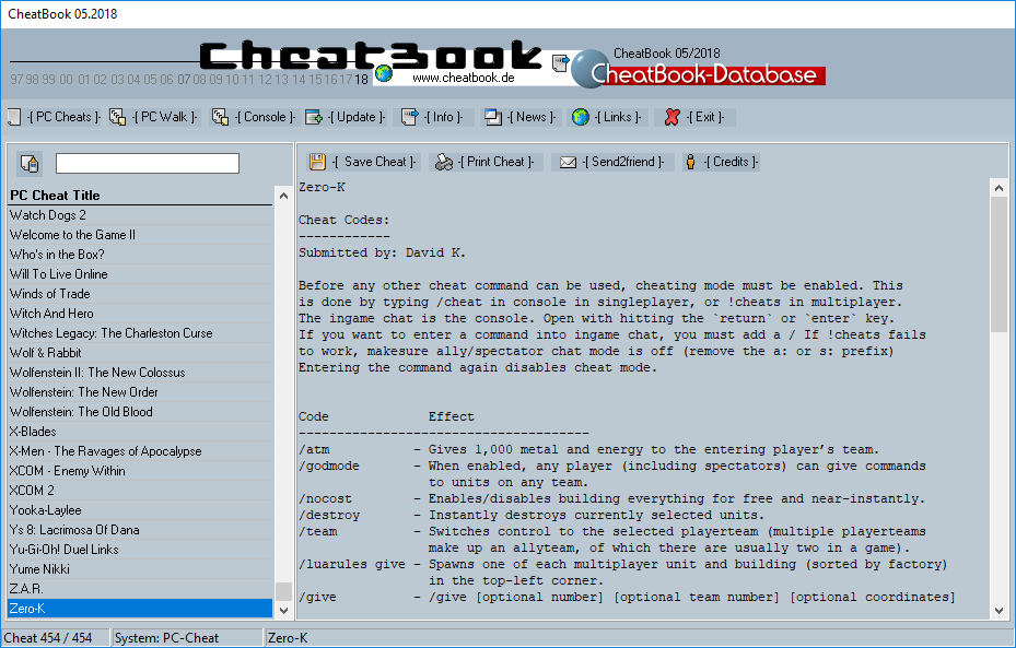 CheatBook Issue 05/2018 full screenshot