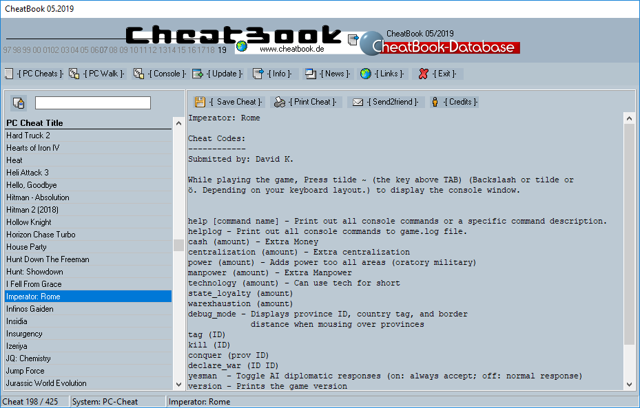 CheatBook (05/2019) - Issue May 2019 is A Cheat-Code Tracker with Cheats, Tips, Tricks and Hints for several popular Games