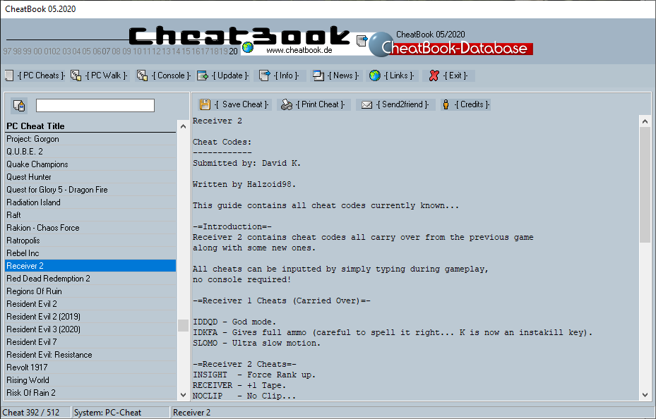 CheatBook (05/2020) - Issue May 2020 is A Cheat-Code Tracker with Cheats, Tips, Tricks and Hints for several popular Games