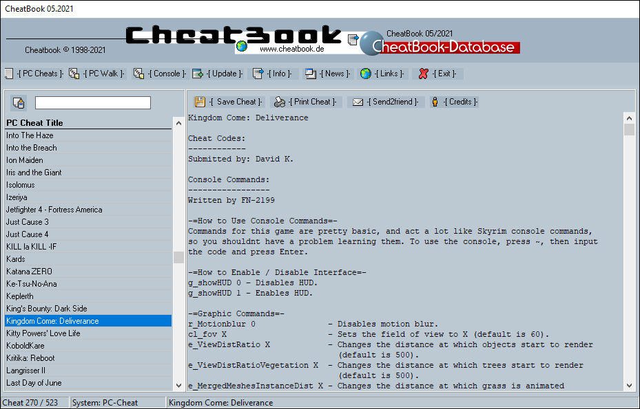 CheatBook Issue 05/2021