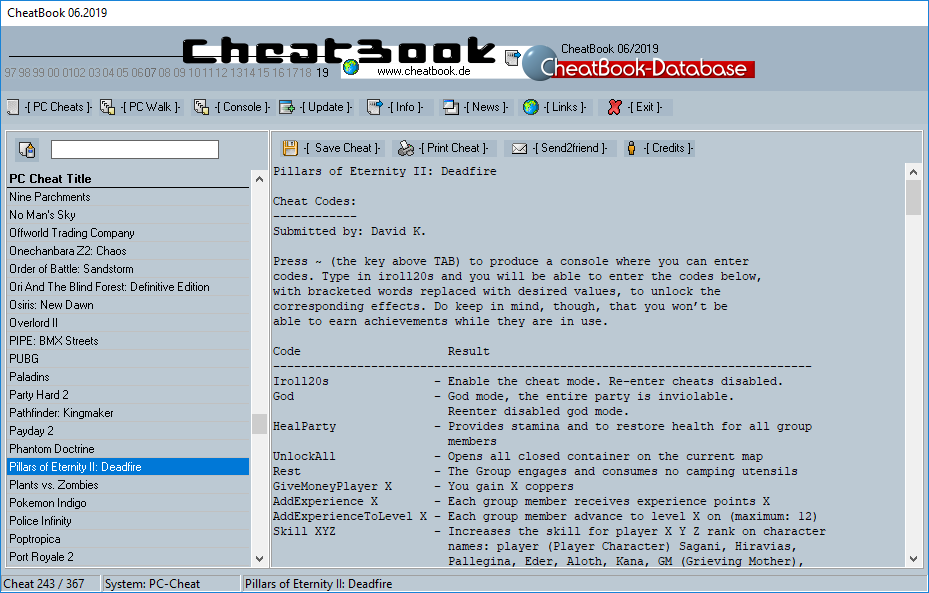 CheatBook (06/2019) - Issue June 2019 is A Cheat-Code Tracker with Cheats, Tips, Tricks and Hints for several popular Games