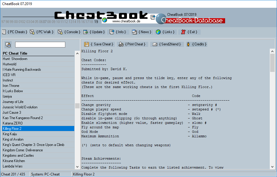 CheatBook (07/2019) - Issue July 2019 is A Cheat-Code Tracker with Cheats, Tips, Tricks and Hints for several popular Games