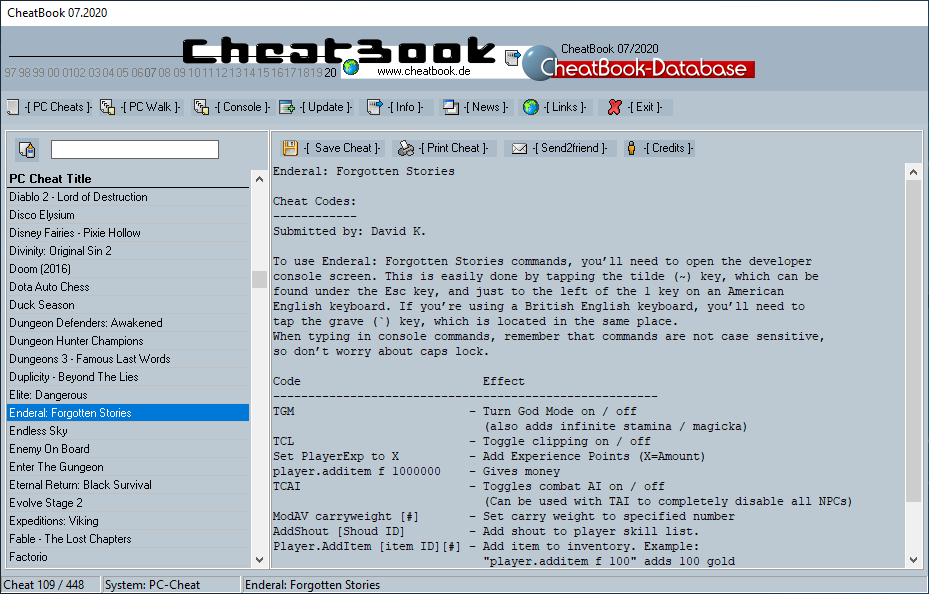 CheatBook (07/2020) - Issue July 2020 is A Cheat-Code Tracker with Cheats, Tips, Tricks and Hints for several popular Games