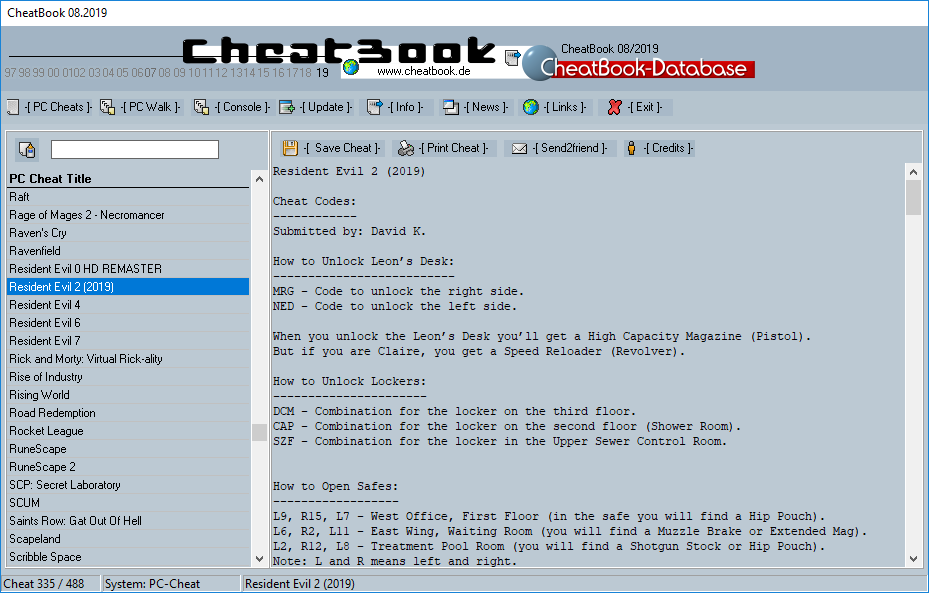 CheatBook (08/2019) - Issue August 2019 is A Cheat-Code Tracker with Cheats, Tips, Tricks and Hints for several popular Games