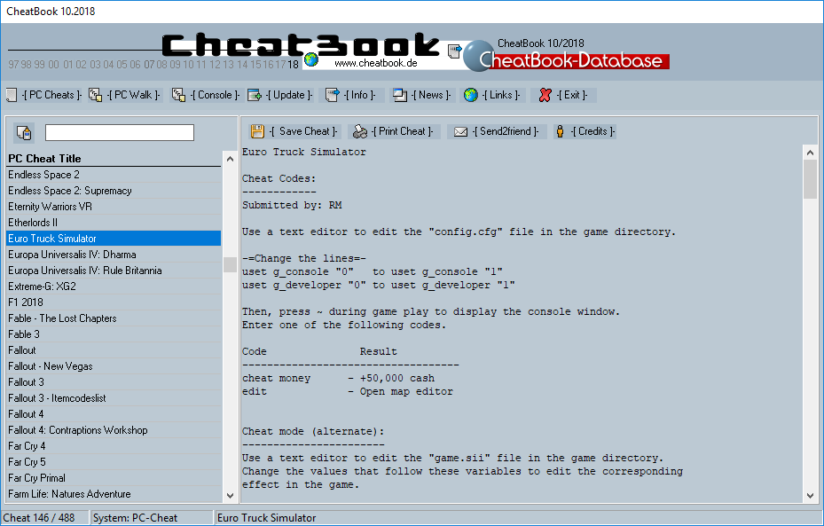 CheatBook (10/2018) - Issue October 2018 is A Cheat-Code Tracker with Cheats, Tips, Tricks and Hints for several popular Games