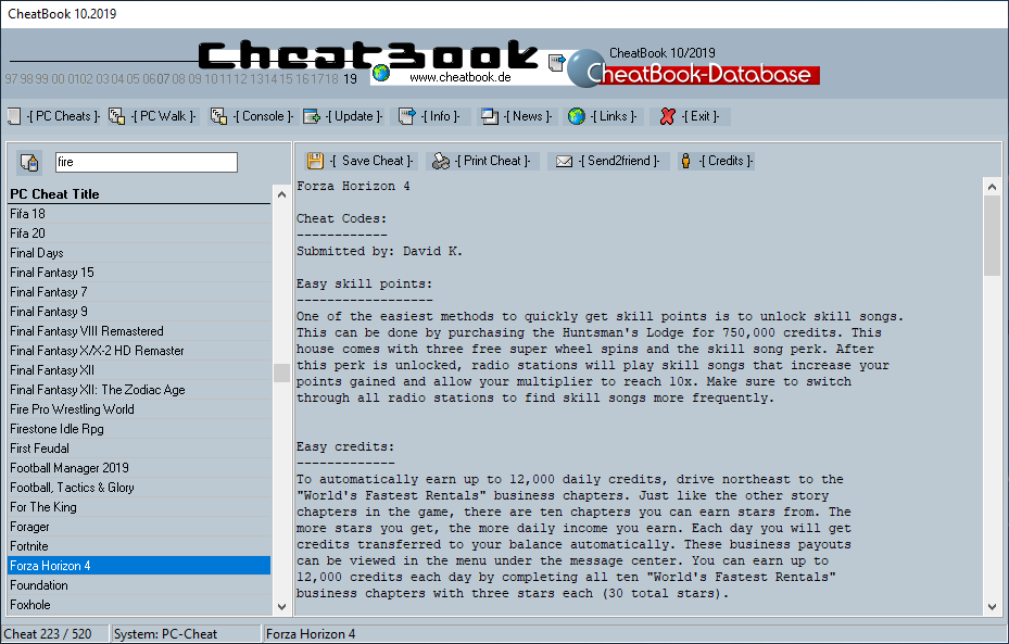 CheatBook (10/2019) - Issue October 2019 is A Cheat-Code Tracker with Cheats, Tips, Tricks and Hints for several popular Games