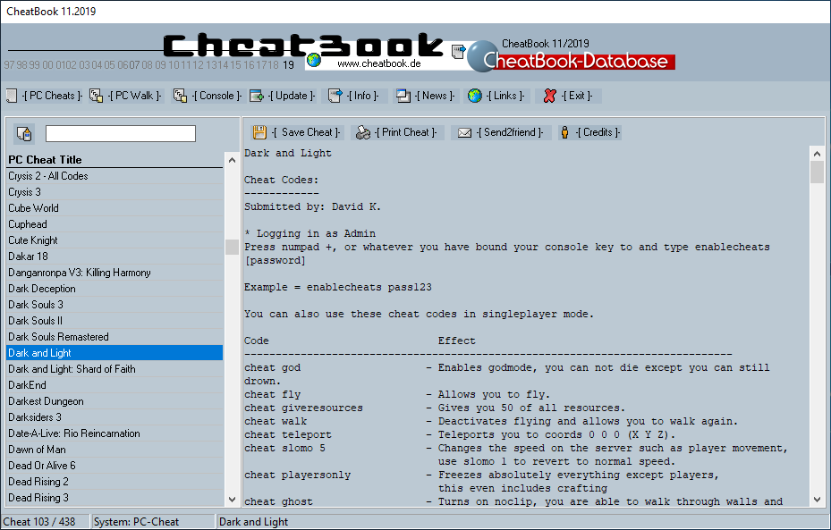 CheatBook (11/2019) - Issue November 2019 is A Cheat-Code Tracker with Cheats, Tips, Tricks and Hints for several popular Games