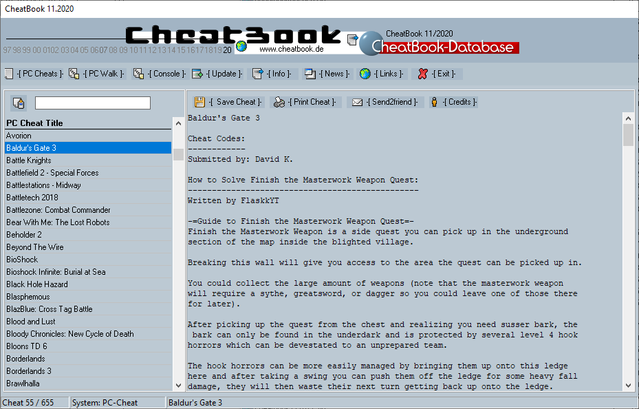 CheatBook (10/2020) - Issue November 2020 is A Cheat-Code Tracker with Cheats, Tips, Tricks and Hints for several popular Games