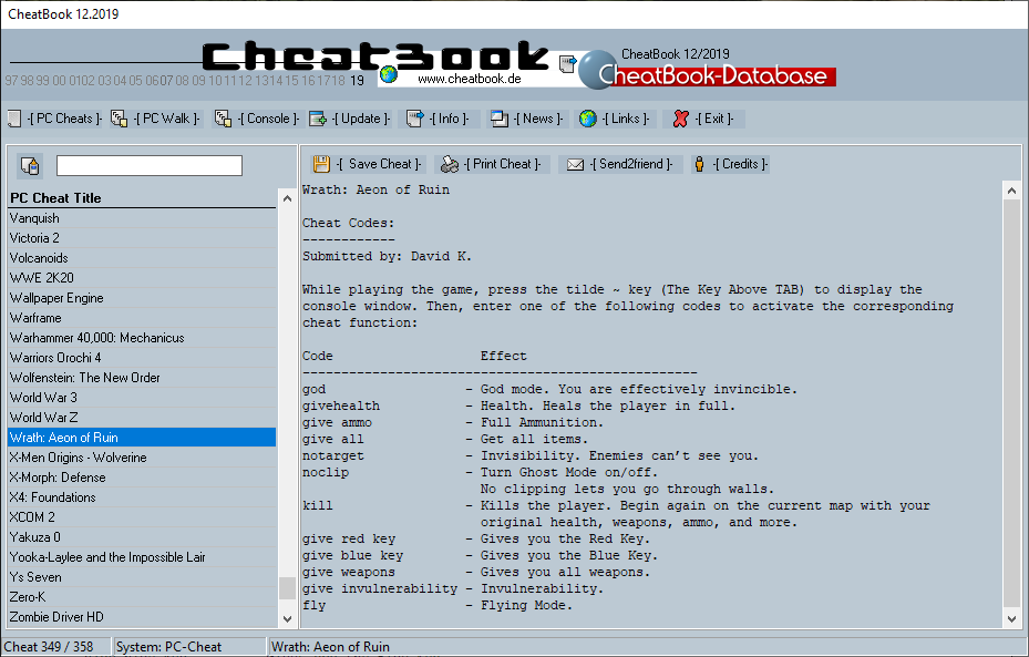 CheatBook (12/2019) - Issue December 2019 is A Cheat-Code Tracker with Cheats, Tips, Tricks and Hints for several popular Games